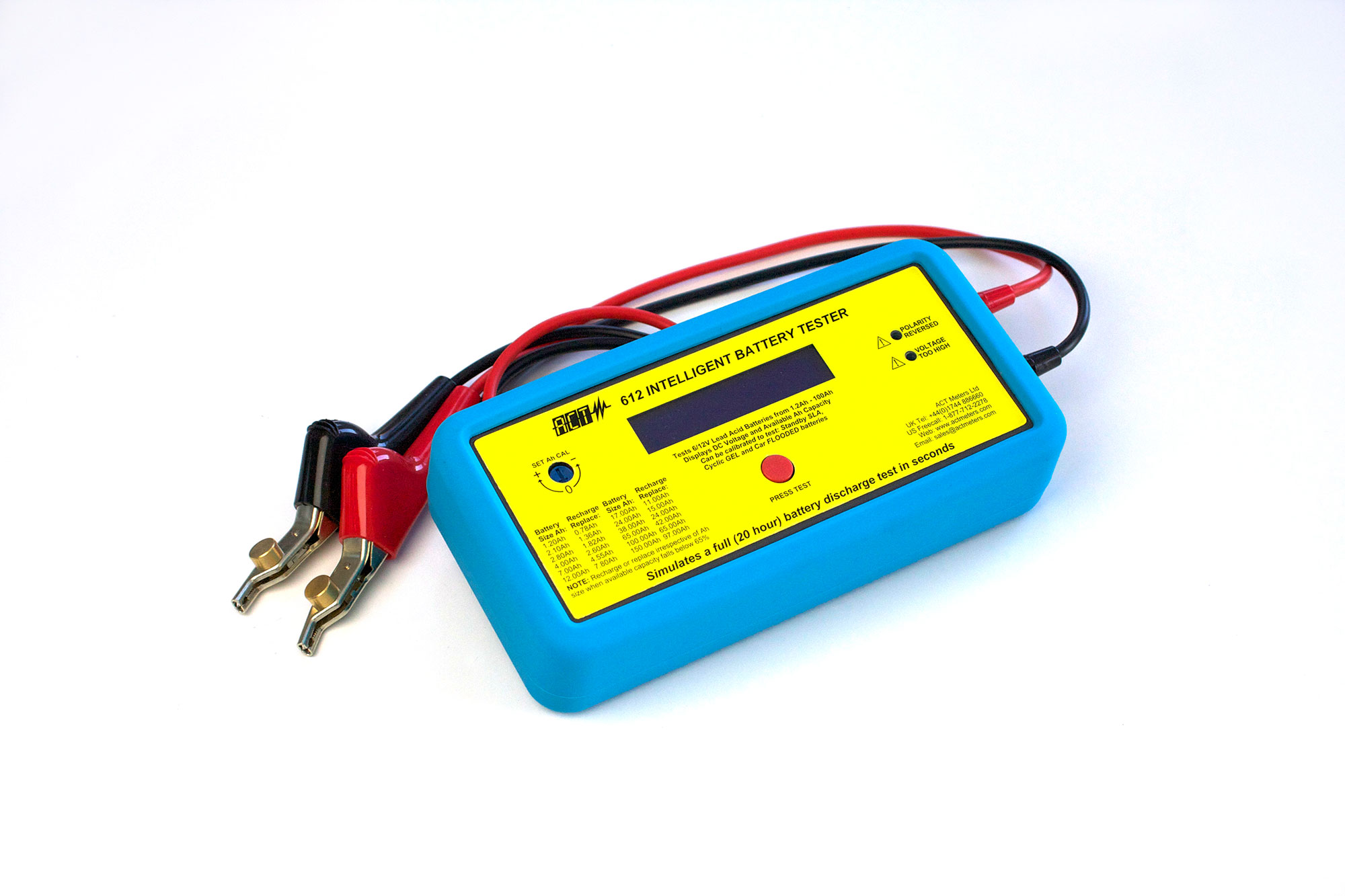 act 612 6v 12v lead acid intelligent battery tester act meters uk