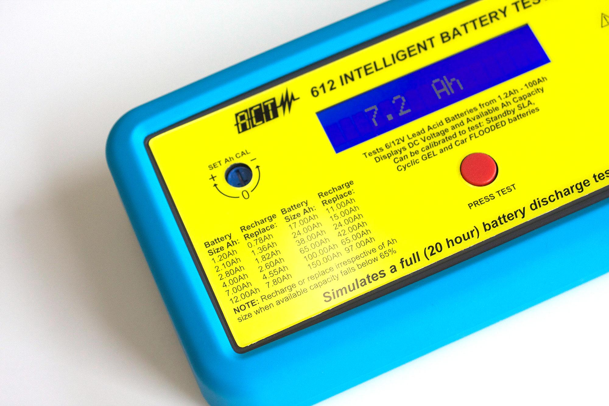 Lead Acid Battery Tester : Act v lead acid intelligent battery tester