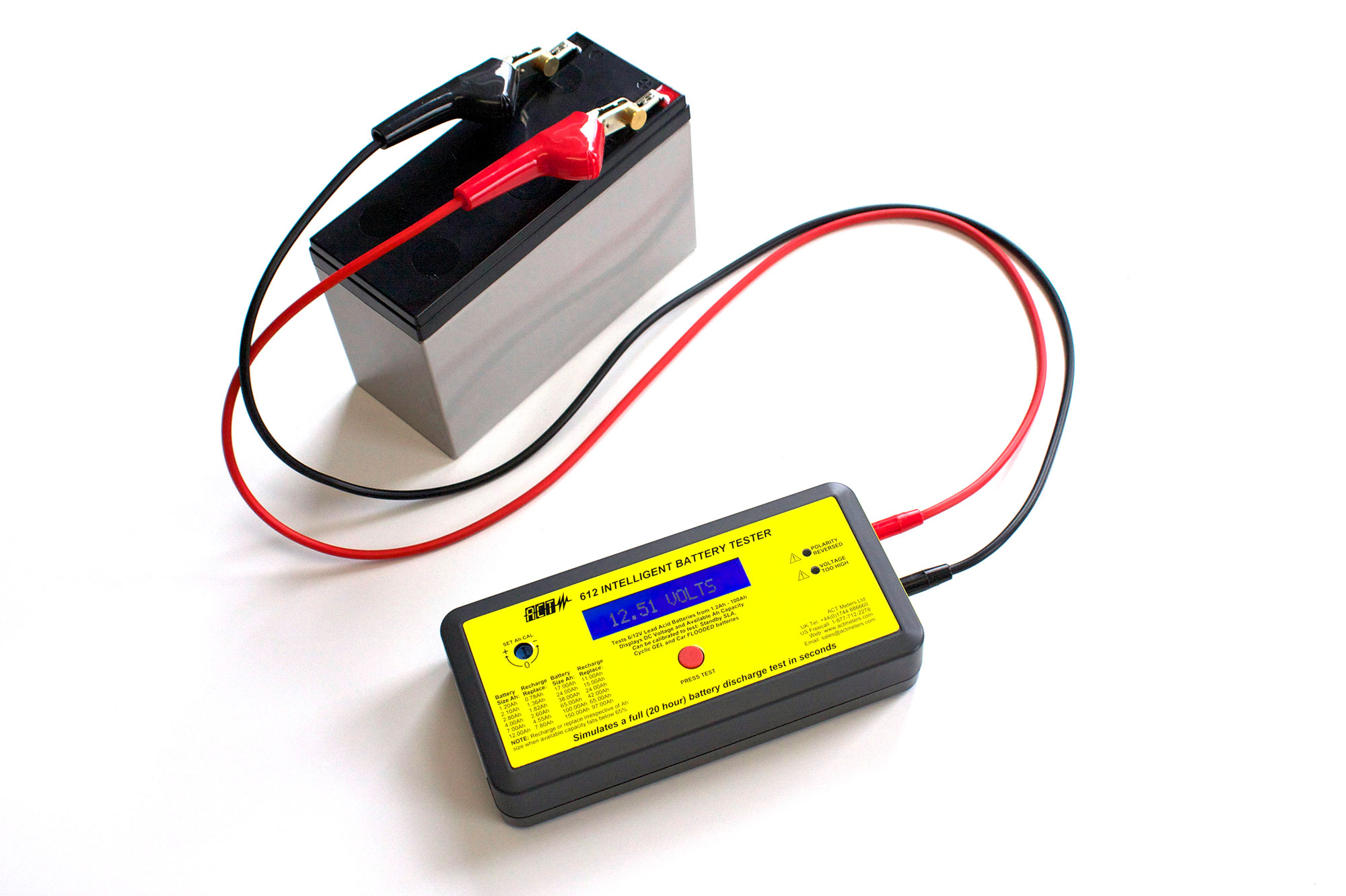 ACT 612 6V/12V Lead Acid Intelligent Battery Tester